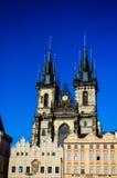 kyrklig tjeckisk lady vår prague republiktyn Arkivfoton