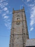 Kyrklig tornspira för engelska Arkivfoto