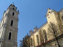 kyrklig universitetar vilnius Royaltyfri Fotografi