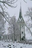 kyrklig vinter Royaltyfri Foto