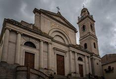 Kyrklig yttersida i Ozieri, Sardinia arkivfoton
