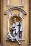 Kyrkliga arkitektoniska detaljer för St Martin ` s i den gamla staden Polen för Warszawa Royaltyfri Fotografi