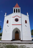 Kyrkliga Avatoru Rangiroa Tuamotu franska Polynesien royaltyfria foton