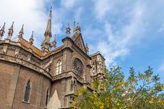 Kyrkliga Capuchins eller sakral hjärtakyrka Iglesia del Sagrado Corazon - Cordoba, Argentina arkivbilder