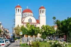 kyrkliga crete fyra martyr crete greece rethymno Royaltyfri Foto