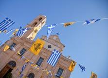 kyrkliga crete greece Arkivfoton