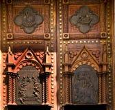 kyrkliga dörrar trämexico Fotografering för Bildbyråer