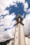 Kyrkliga Di Santa Maria Del Rosario Ponte Nelle Alpi Belluno Arkivfoto
