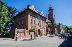 Kyrkliga Emanuel som bygger den Durban grå färgstren Arkivbild