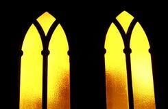 kyrkliga fönster Arkivbilder