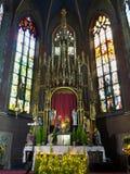 kyrkliga franciscan krakow poland Royaltyfri Bild