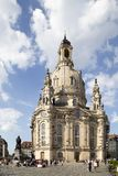 Kyrkliga Frauenkirche eller kyrka av vår dam Fotografering för Bildbyråer