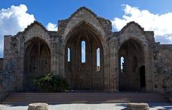 kyrkliga gammala rhodes rhodos Royaltyfria Bilder