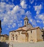 kyrkliga gammala tuscany Arkivbild