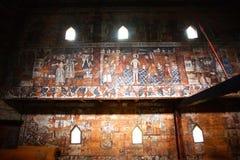 kyrkliga gammala väggar Fotografering för Bildbyråer