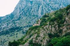 Kyrkliga Gospa od Zdravlja av Kotor på väggen, Montenegro, Kotor Royaltyfri Bild