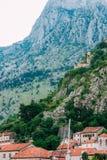 Kyrkliga Gospa od Zdravlja av Kotor på väggen, Montenegro, Kotor Arkivbild