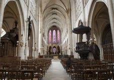 kyrkliga gotiska inre paris Royaltyfri Bild