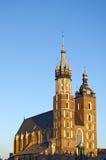 kyrkliga gotiska krakow Royaltyfri Foto