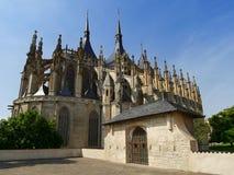 kyrkliga gotiska torn Royaltyfri Bild
