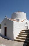 kyrkliga greece lindos Fotografering för Bildbyråer
