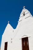 kyrkliga greece mykonos Royaltyfri Foto