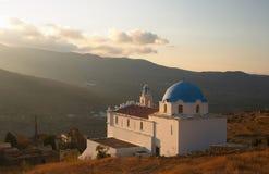 kyrkliga greece tinos Arkivfoto