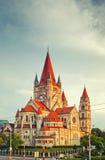 Kyrkliga Heiliger Franz av Assisi i Wien Fotografering för Bildbyråer