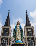 Kyrkliga heliga Mary Arkivbild