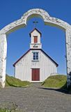 kyrkliga iceland royaltyfri bild