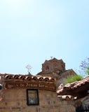 Kyrkliga Jovan Kaneo, Ohrid, Makedonien Royaltyfria Bilder