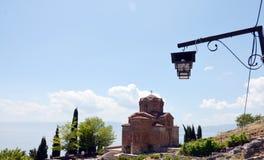 Kyrkliga Jovan Kaneo, Ohrid, Makedonien Royaltyfri Fotografi