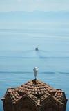 Kyrkliga Jovan Kaneo, Ohrid sjö Arkivbilder