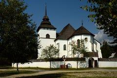 Kyrkliga jungfruliga Mary, Pribylina, Slovakien Arkivbilder