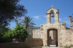 Kyrkliga Klocka för Kreta torn Fotografering för Bildbyråer