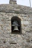 Kyrkliga Klocka och torn, nolla-Cebreiro by, Galicia Royaltyfri Foto