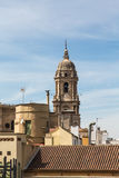 Kyrkliga Klocka torn i Malaga Royaltyfri Bild