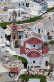 Kyrkliga Klocka torn Lindos Rhodes Greece Royaltyfria Foton