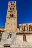 Kyrkliga Klocka torn-Moustiers Sainte Marie, Frankrike Arkivbild