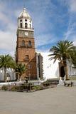 kyrkliga lanzarote miguel san teguise Royaltyfri Foto