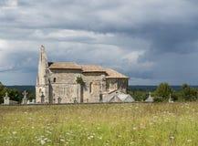 Kyrkliga Le Meillac Gours Royaltyfri Foto