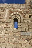 kyrkliga lindos medeltida gammala rhodes för acropolis Royaltyfria Foton