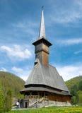 kyrkliga maramures träromania Royaltyfri Fotografi