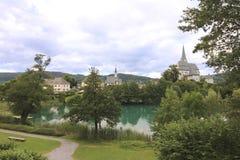 Kyrkliga Maria Woerth Austria Arkivfoto