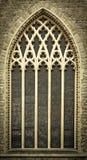 kyrkliga medeltida fönster Arkivbilder