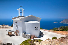 Monolithos kyrka Arkivbild
