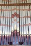 Kyrkliga musikaliska organrör Royaltyfria Foton