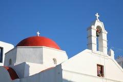 kyrkliga mykonos Royaltyfria Foton