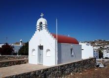 kyrkliga mykonos Royaltyfri Fotografi