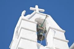 kyrkliga mykonos för klocka Royaltyfri Foto